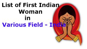 list-of-First-Indian-Women