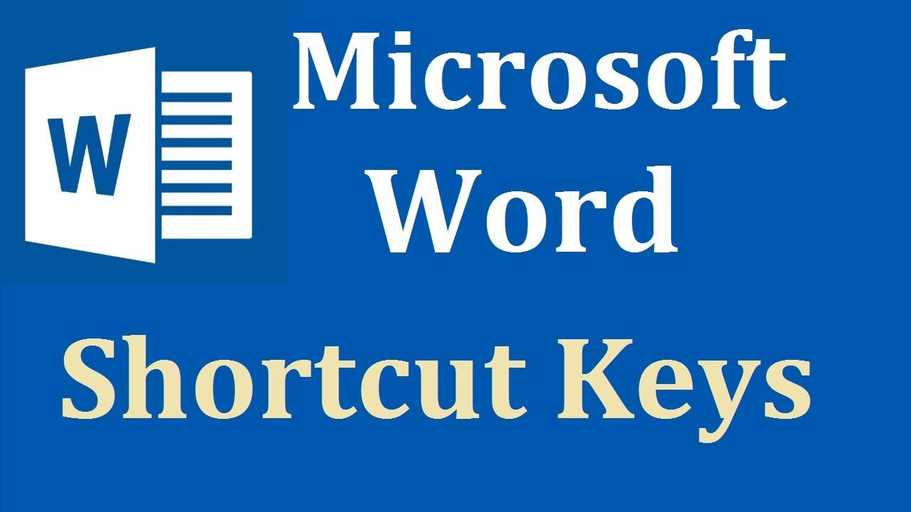 microsoft word shortcut keys pdf