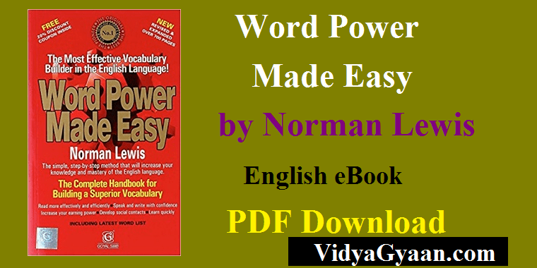 Word Power Made Easy by Norman Lewis Download PDF