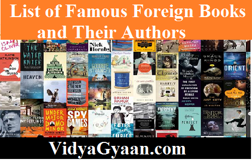 List of Famous Foreign Books and Their Authors