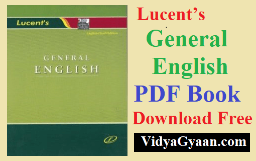 Lucent General English PDF Book Download Free - VidyaGyaan