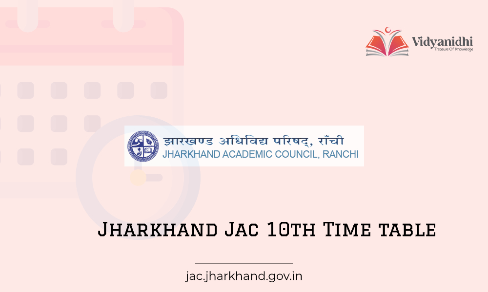 Jharkhand JAC 10th Time Table - Exam Date
