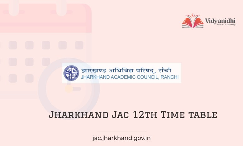 Jharkhand JAC 12th Routine