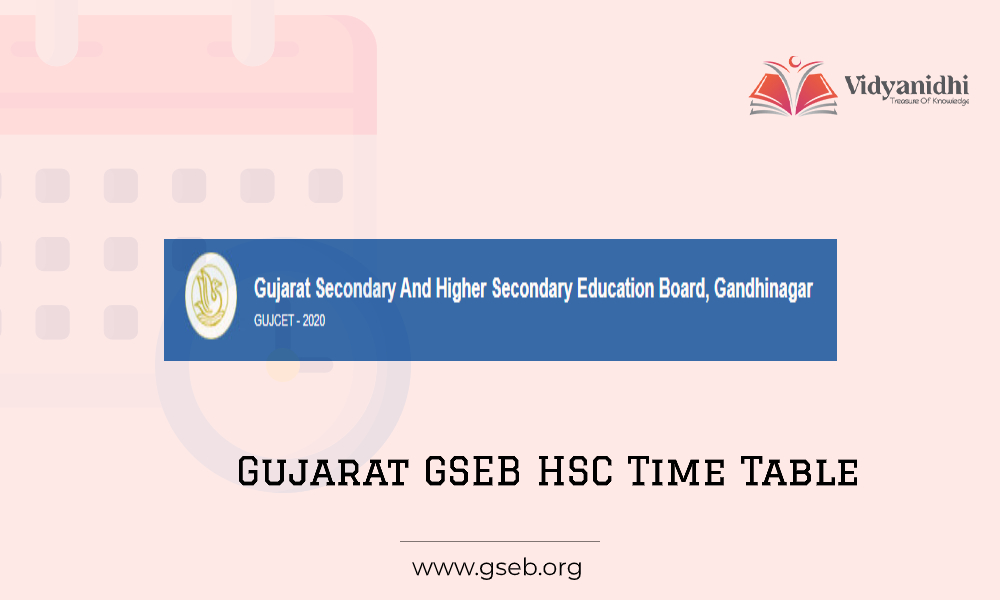 Gujarat Board 12th Time Table 2021 - GSEB HSC Exam Dates