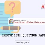 JKBOSE 10th Model Question paper 2021