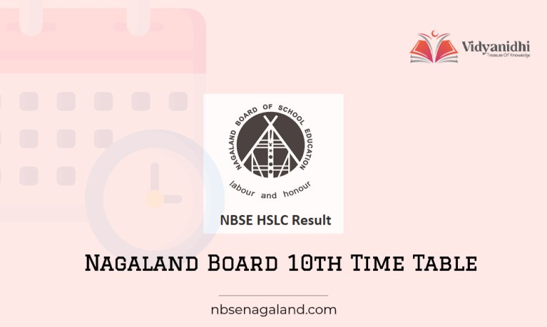 NBSE HSLC Time Table 1