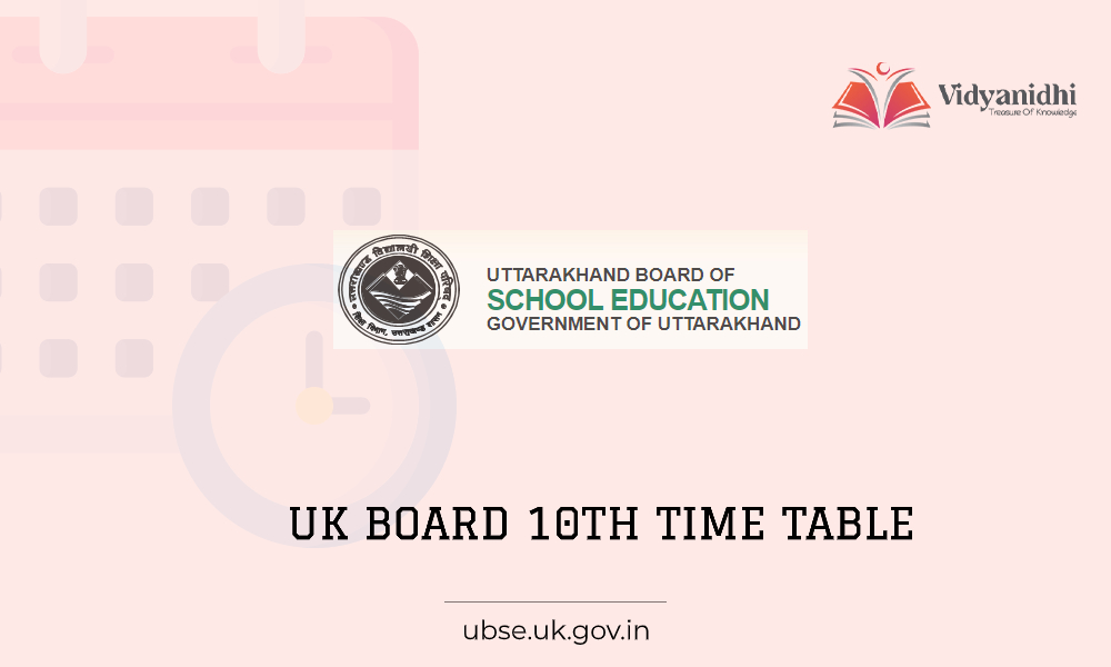 UK Board 10th Time Table 2021