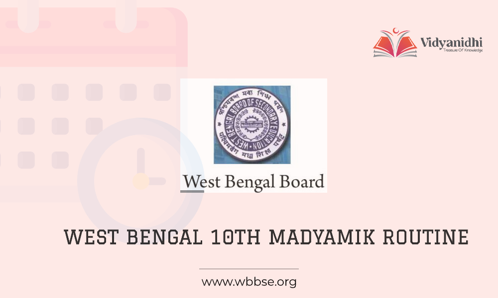 West Bengal Madyamik Routine - Exam date sheet 2021(www.wbbse.org)