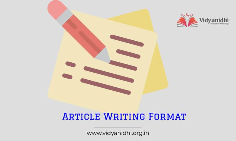 Article Writing Format Example, Format
