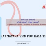 Karnataka 2nd PUC Admit Card 2021