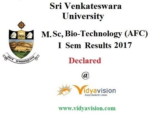 SVU M.Sc Bio-Technology Results 2017