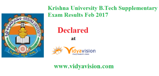 KRU B.Tech Supply Results 2017