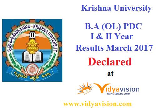 KRU BA PDC I & II Year Results 2017
