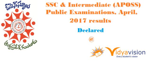 APOSS Inter & SSC Results 2017