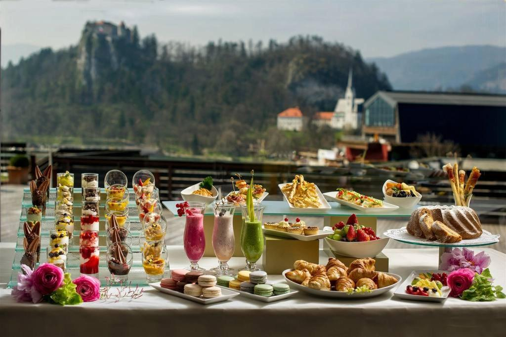 Hotel Kompas Lake Bled: Terrasse
