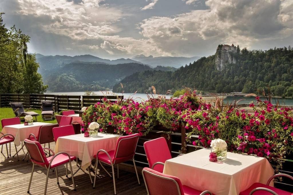 Hotel Kompas Lago di Bled : Terrazza