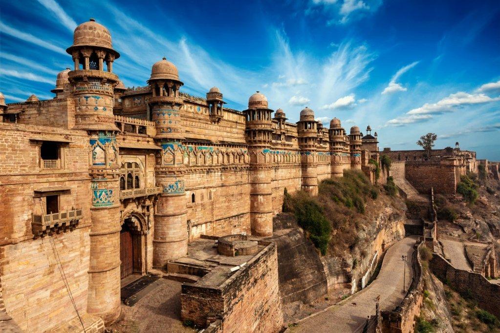 Gwalior Fort. Gwalior, Madhya Pradesh, Indien