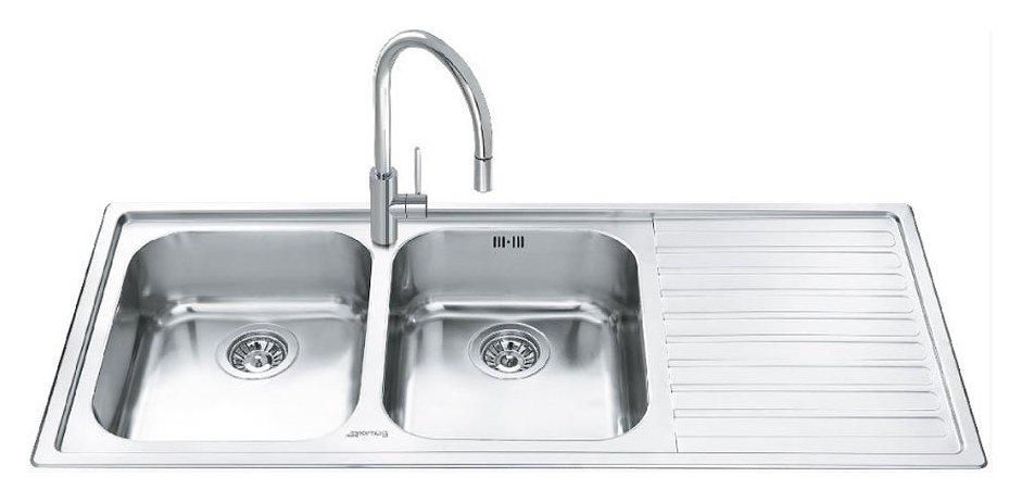 smeg ll116d 2 classica built in sink cm