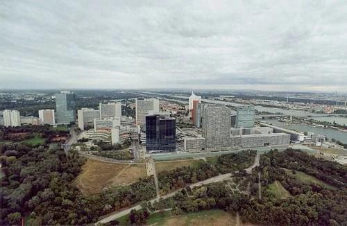 Vienna International Centre from Donauturm