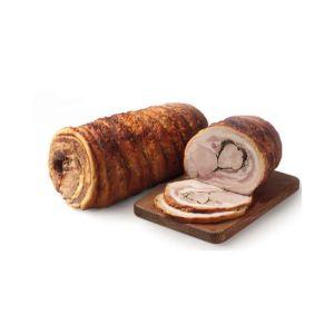tronchetto in porchetta cotto a legna sottovuoto da 5 kg t122 1