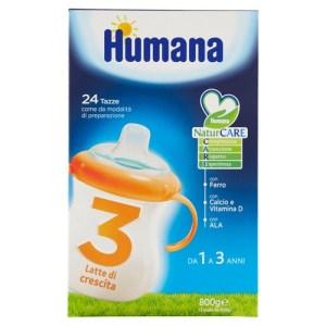 Latte in polvere crescita 3 Humana 31