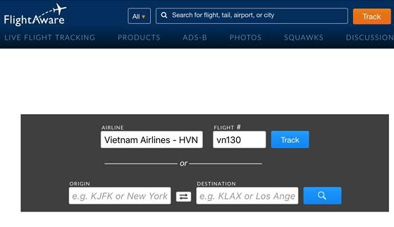 Ứng dụng FlightAware Flight Tracker
