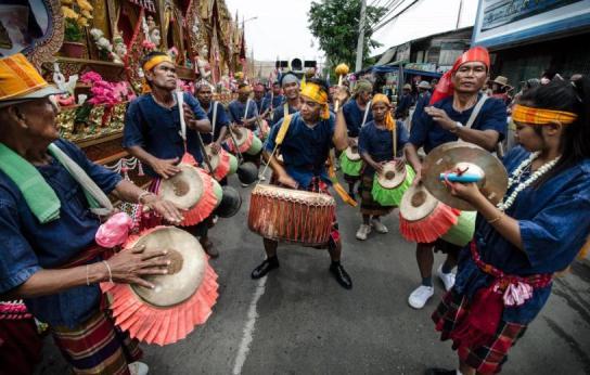 Lễ hội cầu mưa Bun Bangfai