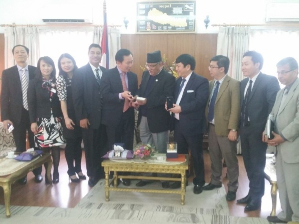 Assistant Minister of Foreign Affairs of Vietnam Pham Sanh Chau visits Nepal, March 2017