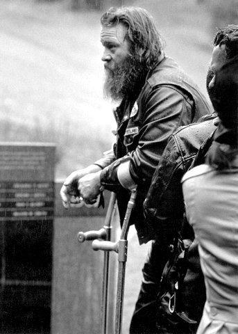 vet at Oregon memorial