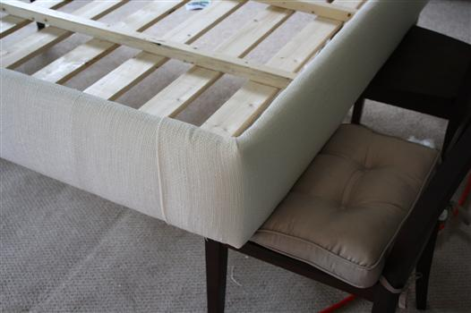 How to Build an Upholstered Bed     View Along the Way   How to upholster a platform bed