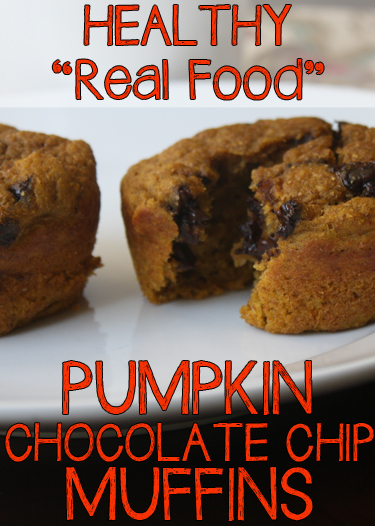 Healthy real food pumpkin sweet potato chocolate chip muffins