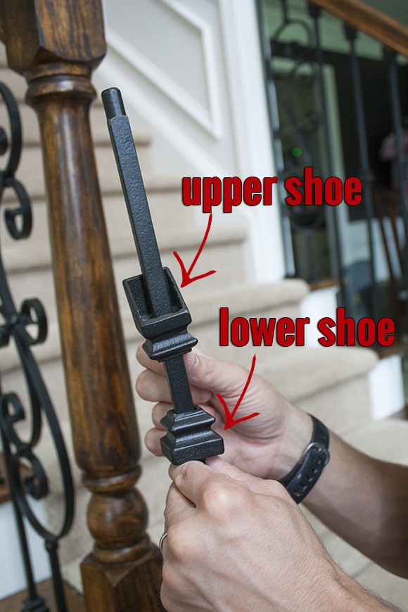 How To Install Iron Balusters View Along The Way   Installing Wrought Iron Balusters   Staircase   Stair Treads   Stair Parts   Iron Stair Spindles   Wood