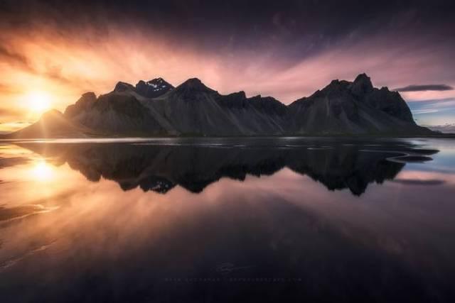 Reflections Of Vestrahorn by ryanbuchanan