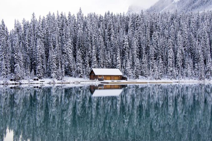 Snowy cabin by swashbucklin - Canada Photo Contest