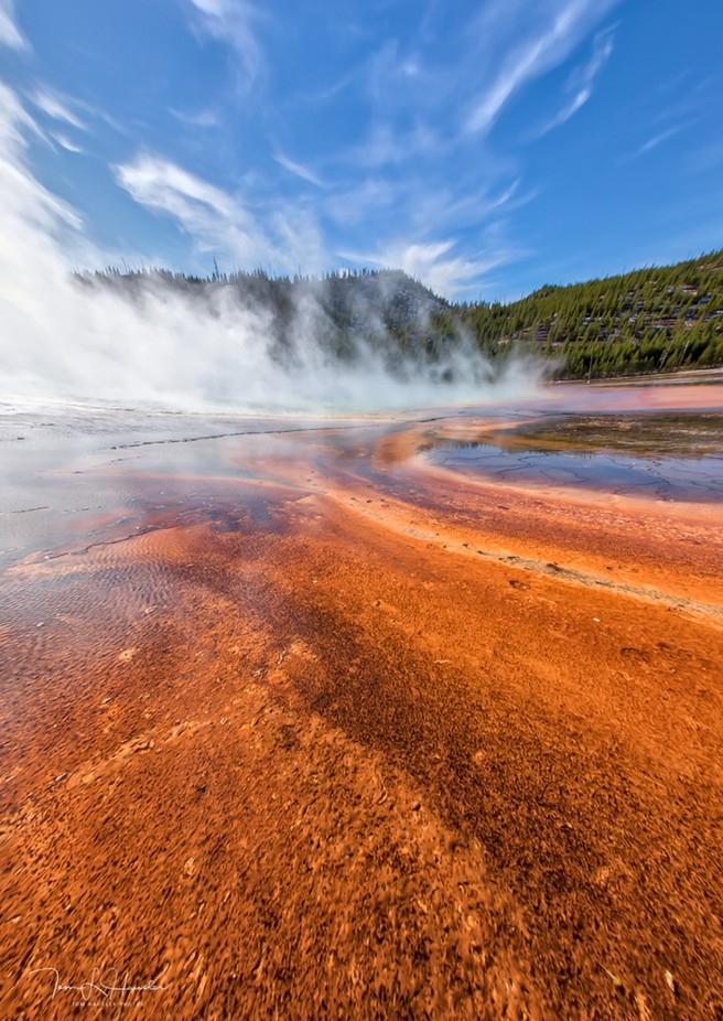 Geysers in Yellowstone NP by tomhausler - Orange Tones Photo Contest
