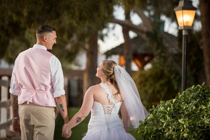 Wedding couple walking to their reception cowboy wedding, Las Vegas by paulbloch - Love Photo Contest 2019