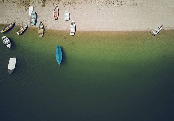 Karwendel VI: Above the boats by martinrosenkranz - The Blue Color Photo Contest 2018