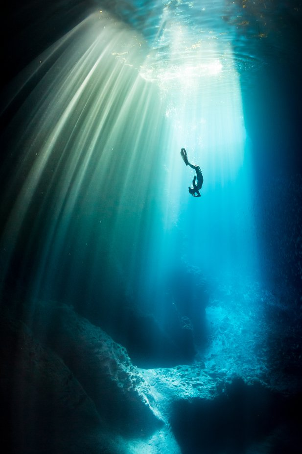 The Descent by Grantjpthomas - The Blue Color Photo Contest 2018