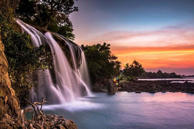 Sunset & that Toroan Waterfall by crazyangel77 - Monthly Pro Photo Contest Vol 45