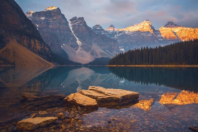 Sunrise at Moraine Lake by APolidario - Image Of The Month Photo Contest Vol 37
