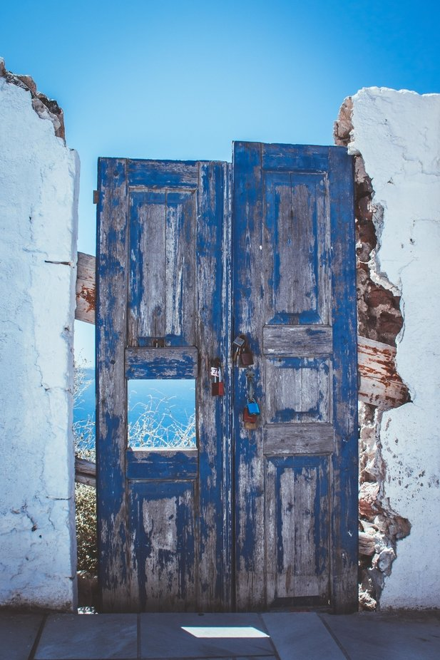 Greek Doors by lednuke - The Blue Color Photo Contest 2018