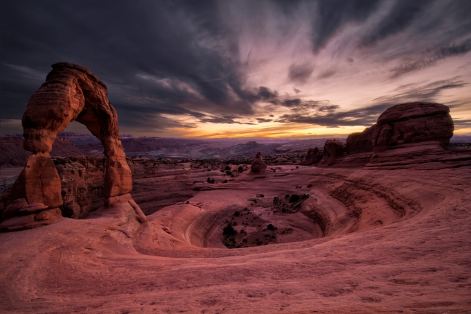 Delicate Arch getting some sunset light by flipstar - The Wonders of the World Photo Contest