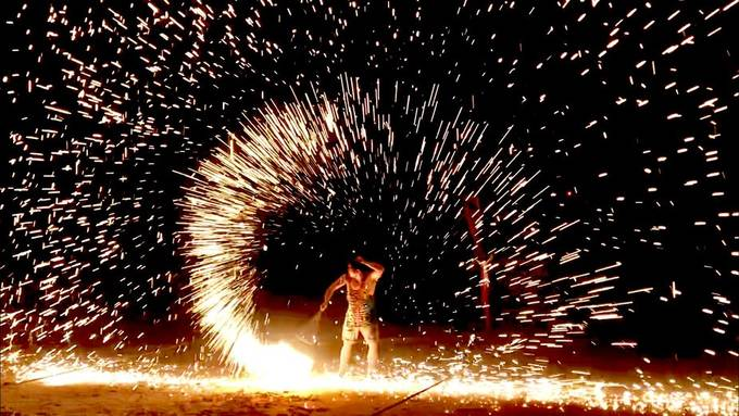 Fire spinning in Thailand by brookechelettechapman - My Best New Shot Photo Contest