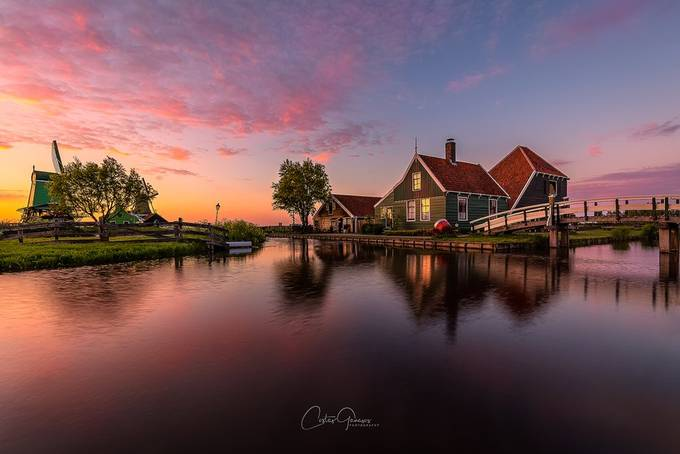 Yet znother sunset in Zaanse Schans by costasganasosphotography - My Best New Shot Photo Contest