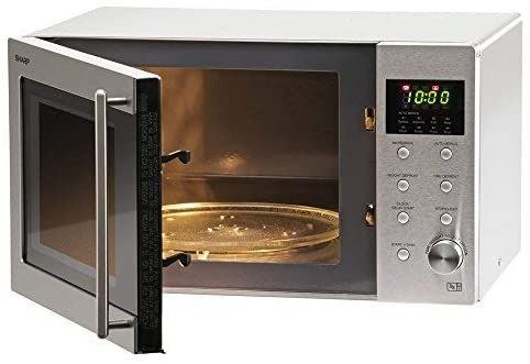 sharp r28stm 23l solo stainless steel microwave