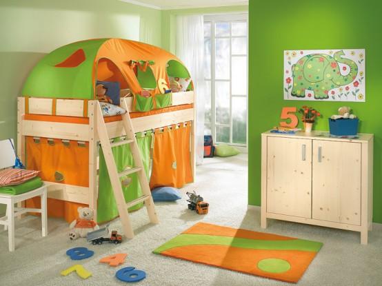 Χαρούμενα παιδικά δωμάτια (25 φωτογραφίες)