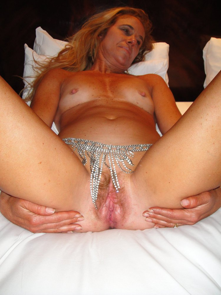 Hairy housewife mature spread twat