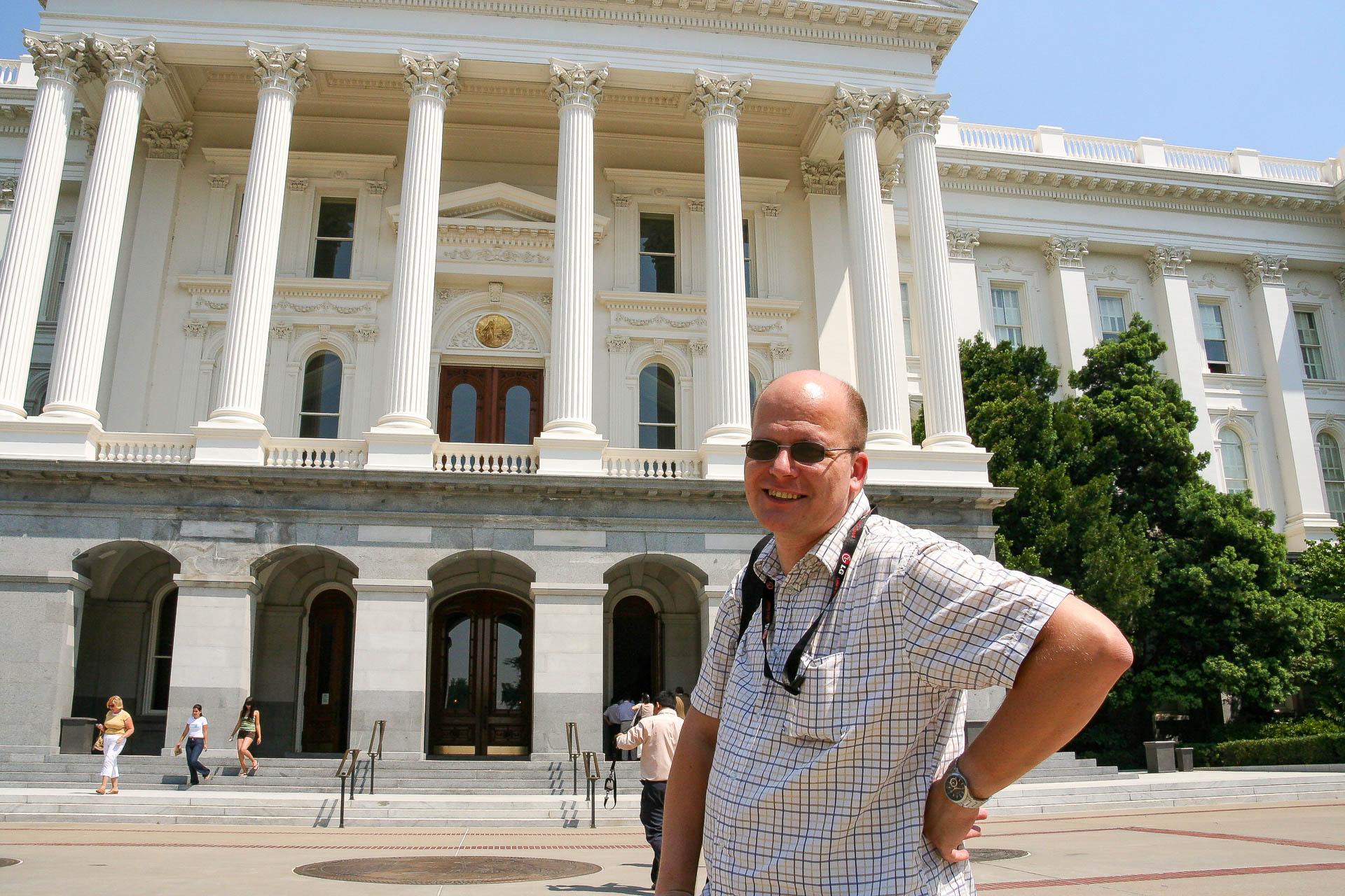 Peter vor dem Capitol