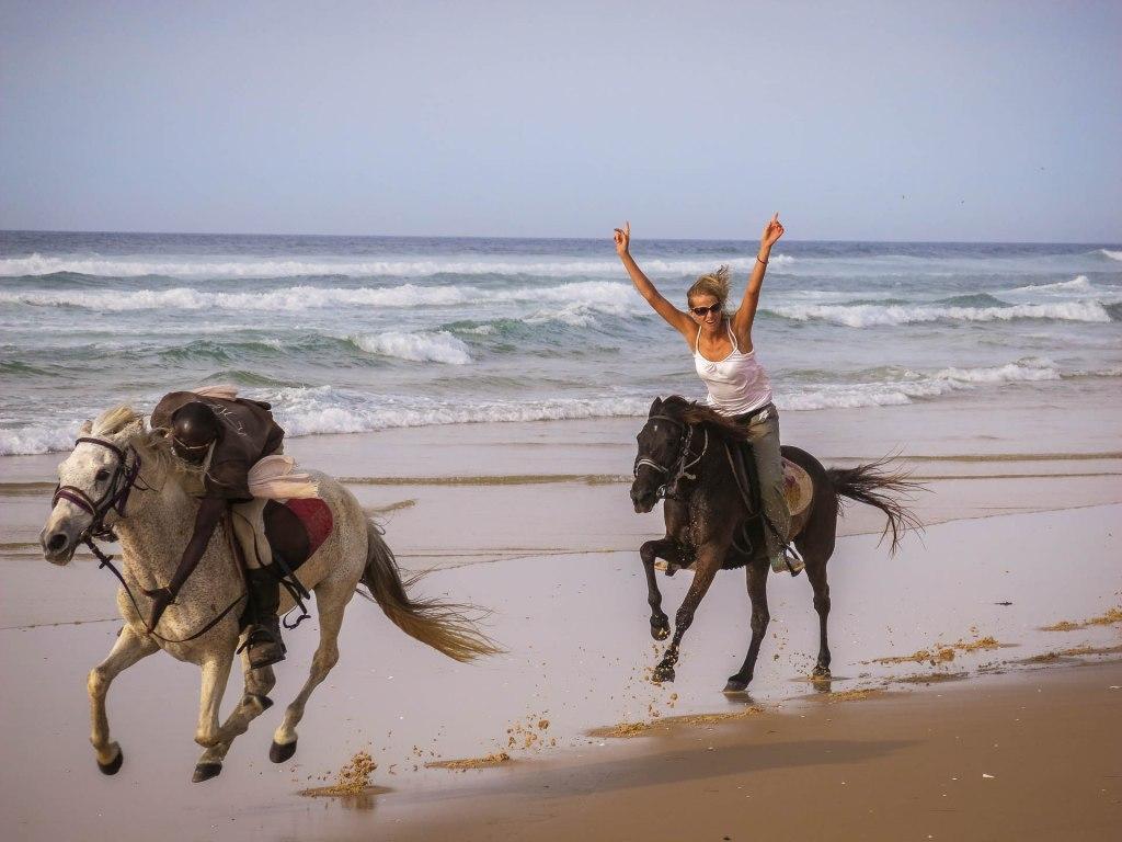 Agnes auf dem Pferd