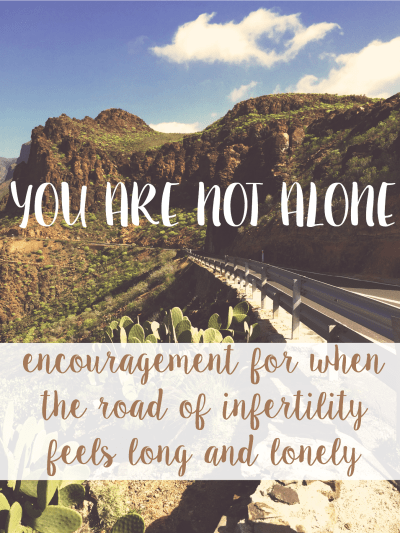 You Are Not Alone: Encouragement for when the road of infertility feels long and lonely // www.viewfromtheairport.com